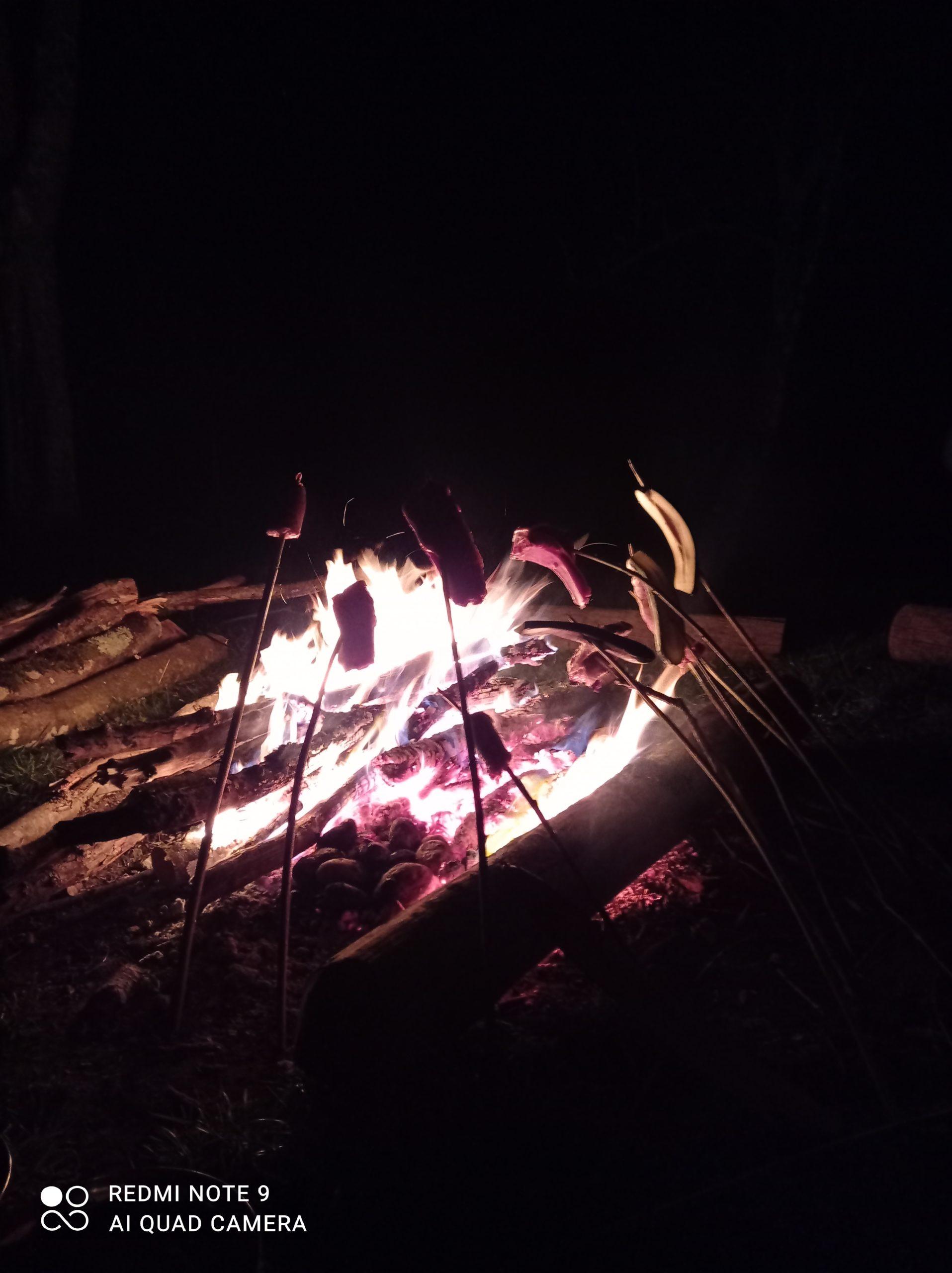 Cuisson feu de camp